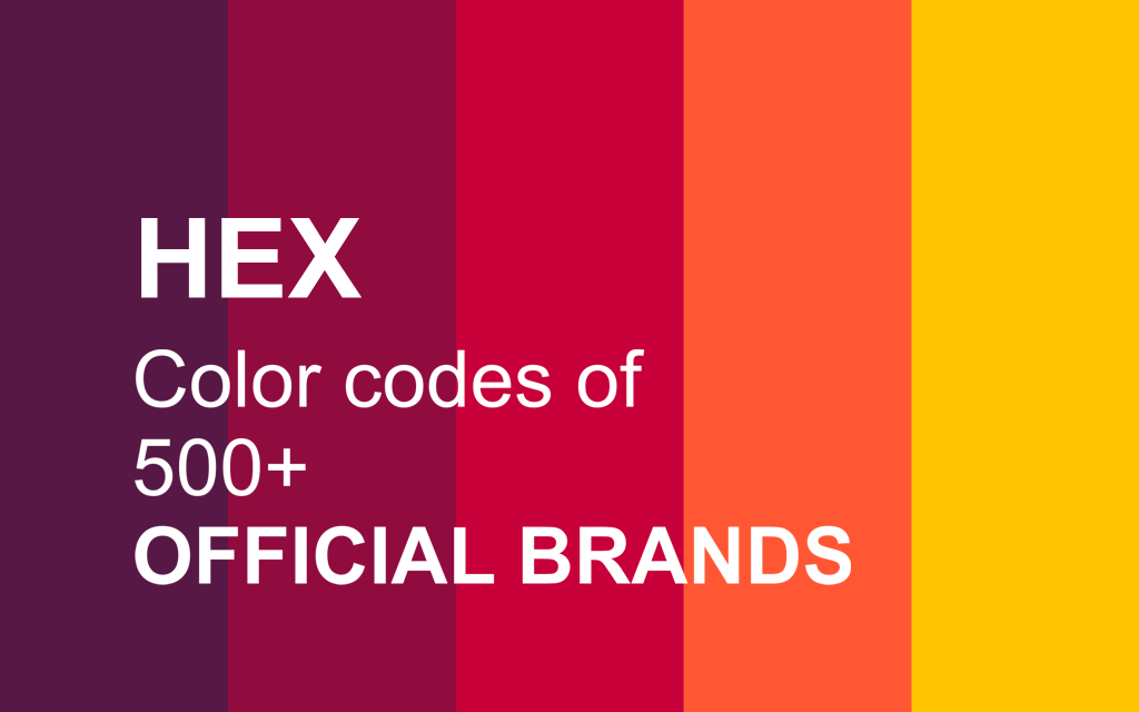 Color codes of 500+ official brands - Thanalysis