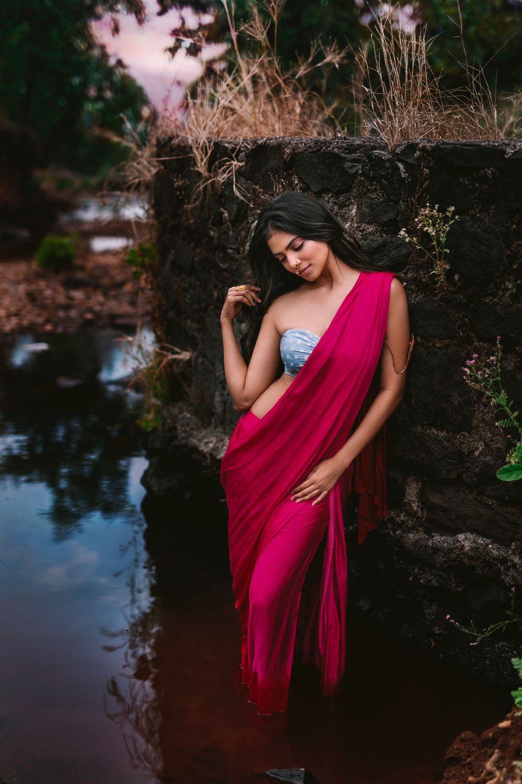 malavika mohanan strapless dress images
