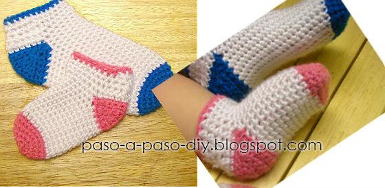 Cómo tejer calcetines al crochet / DIY ~ Explicación en Español ...