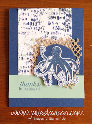 Stampin' Up! Sea of Textures ~ Tranquil Textures ~ 2018-2019 Annual Catalog ~ www.juliedavison.com