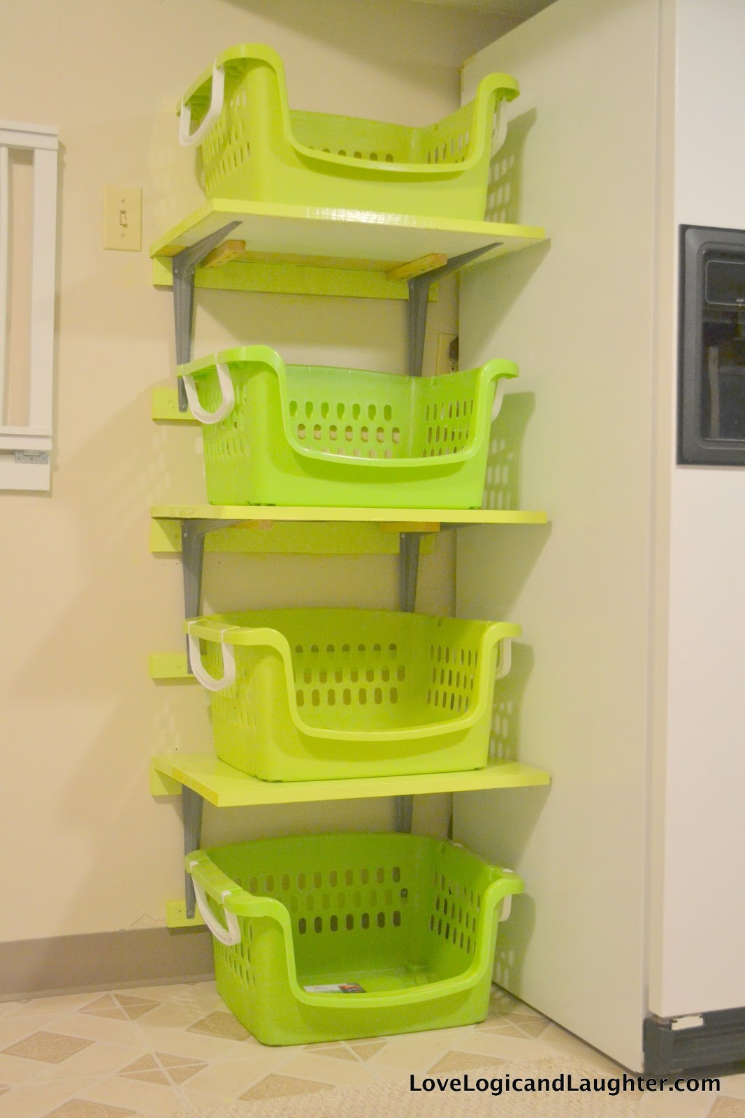 Laundry Basket With Shelves Logic And Laughter Shelves For Laundry Baskets Diy