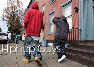 Two hio hop guys wearing a sagging pant