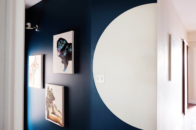 half circle shape paint wall instagram interior design