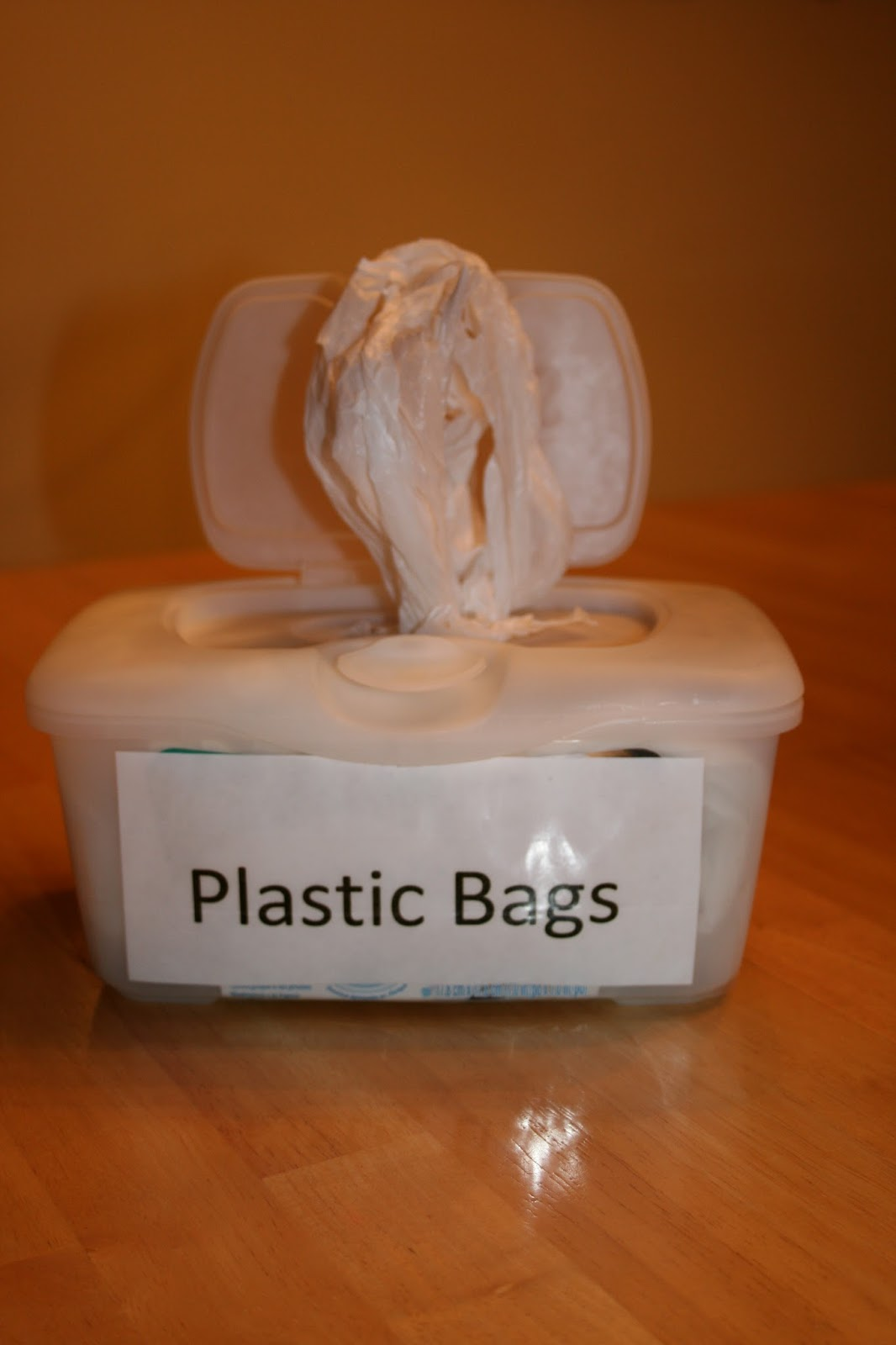 How To Reuse Baby Wipe Containers To Store Plastic Bags