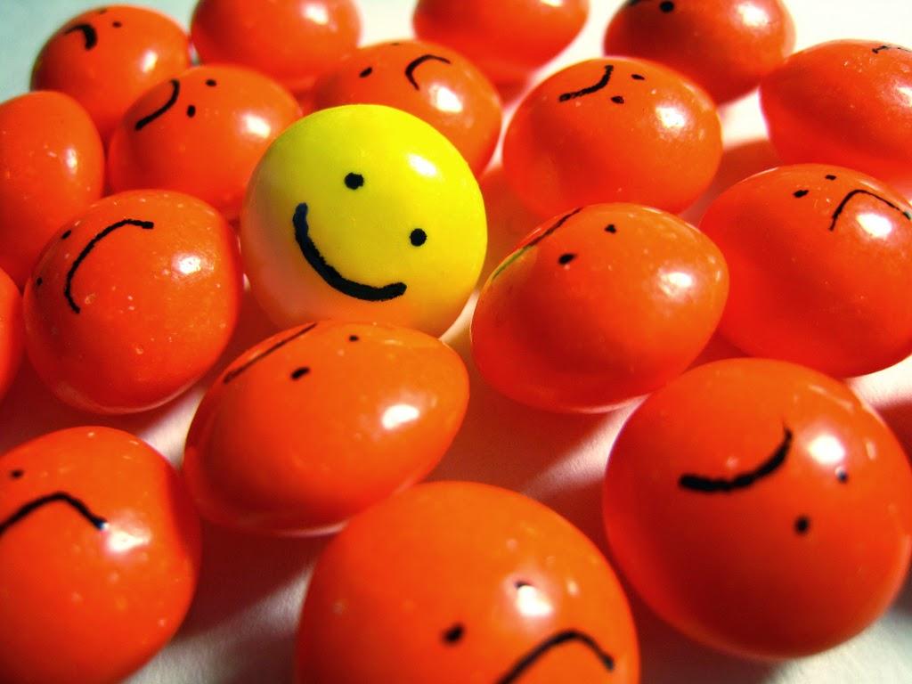 Smiley Face Yellow Unhappy Face Orange
