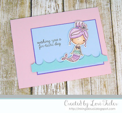 Wishing You a Fin-tastic Day card-designed by Lori Tecler/Inking Aloud-stamps and dies from Reverse Confetti