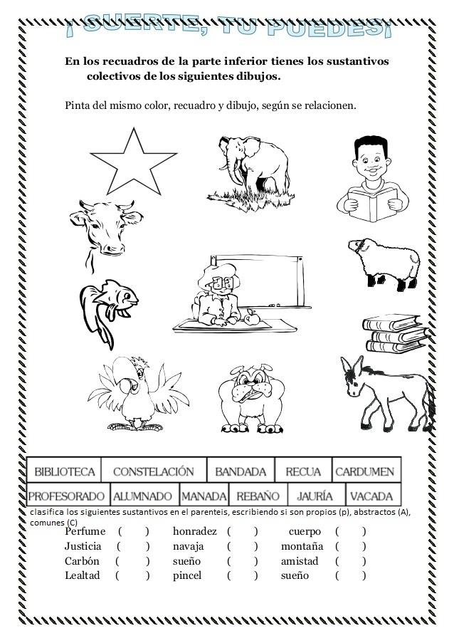 Para Sustantivos Ejemplos Propios Ninos