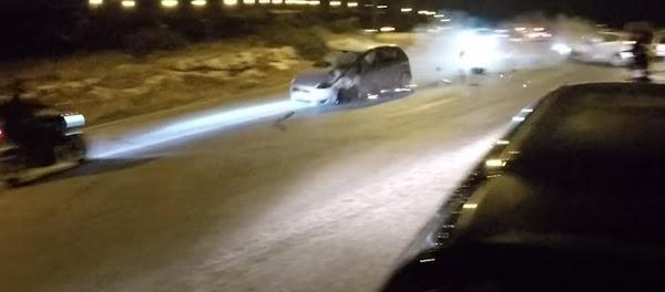 Τροχαίο Ατύχημα στα Λιμανάκια Βουλιαγμένης  (Βίντεο)