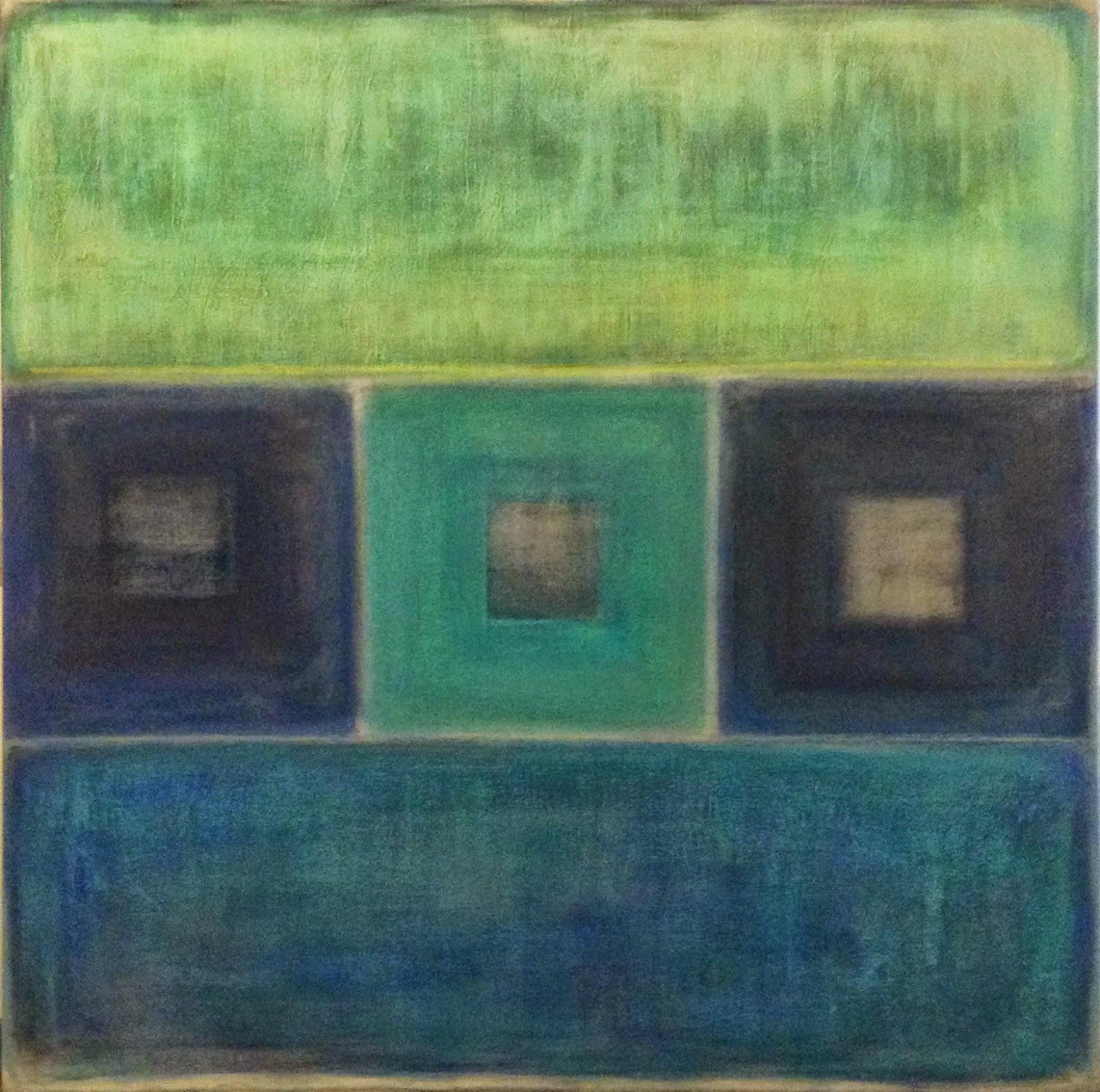 Pinturas abstractas de vanina martinez azules for Comprar cuadros al oleo