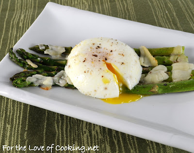 Parmesan Roasted Asparagus Topped with a Poached Egg