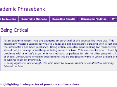 Phrasebank- A Great Resource to Help Research Students Enhance Their Academic Writing Style