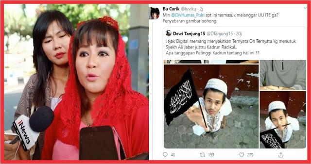 Sebar Foto Hoax Penusuk Syekh Ali Jaber, Polisi Diminta Adil Tangkap Dewi Tanjung