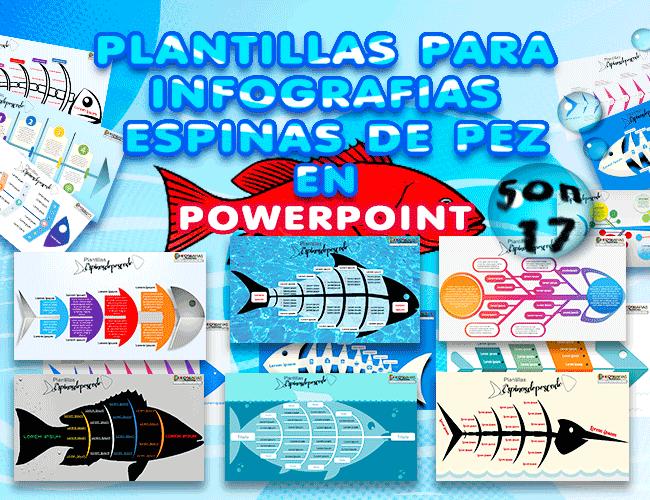 Plantillas de infografías espina de pescado en PowerPoint Descarga gratis
