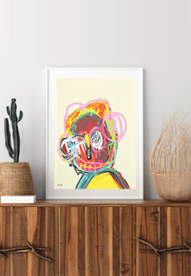 art print, portrait art print, abstract art print, contemporary art print, buy art online, buy original art, Sam Freek,