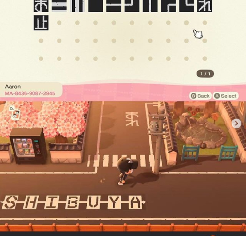 patterns route shibuya animal crossing new horizons