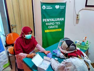 Rumah Zakat dan Tokopedia Salurkan Bantuan Rapid Test Gratis