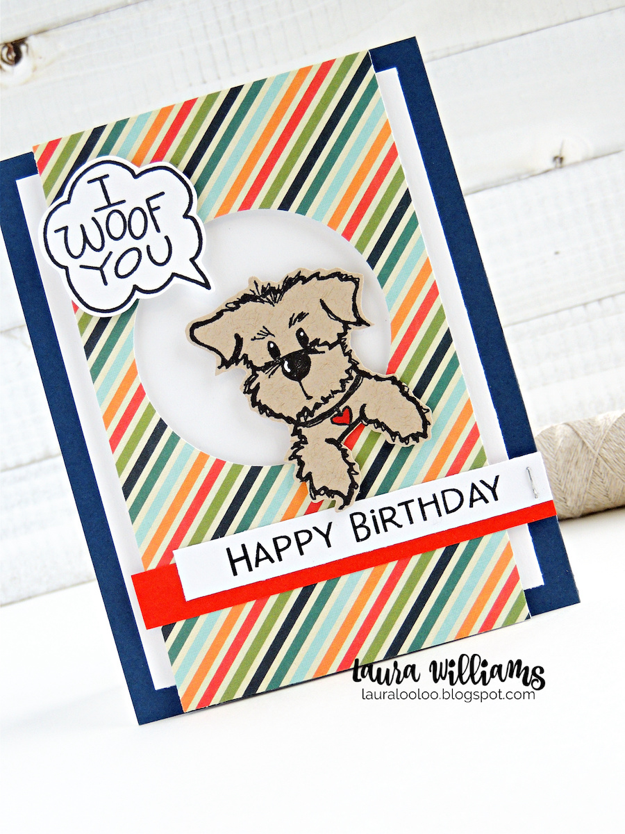 I Woof You! Do you love making handmade cards with dogs? Dog themed paper crafts are so much fun with the adorable dog rubber stamps from Impression Obsession. You'll love these furry friends on cardmaking and paper crafting projects. Visit my blog to see more ideas and inspiration with these cute dog rubber stamps!