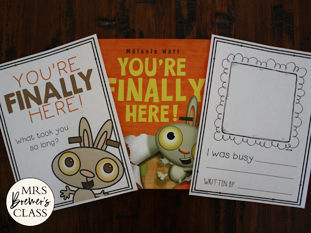 You're Finally Here book study activities unit with Common Core aligned companion  activities class book and craftivity for Kindergarten and First Grade