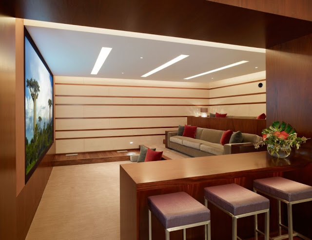 Contemporary home theater room