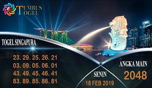 Prediksi Angka Togel Singapura Senin 18 Februari 2019