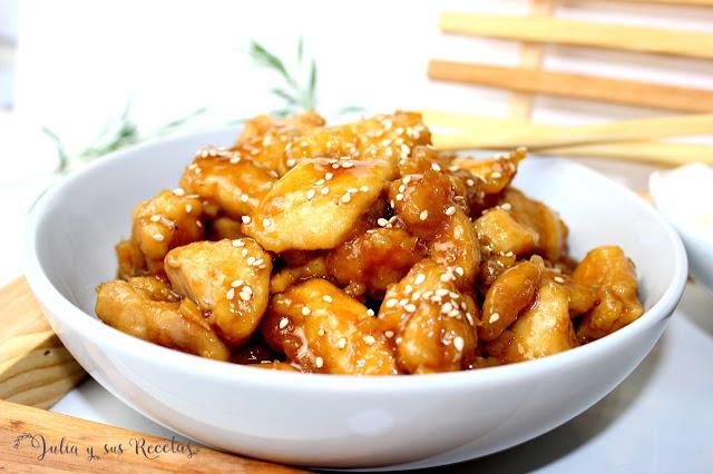 Pollo a la miel estilo chino. Julia y sus recetas