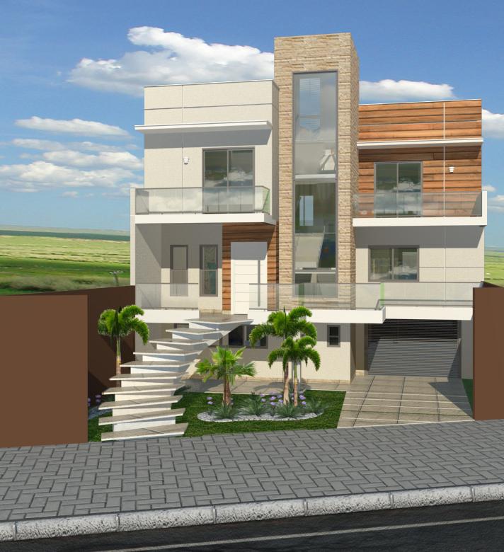 Casas Com Varanda 60 Modelos Projetos E Fotos: Projetos De Sobrados Modernos
