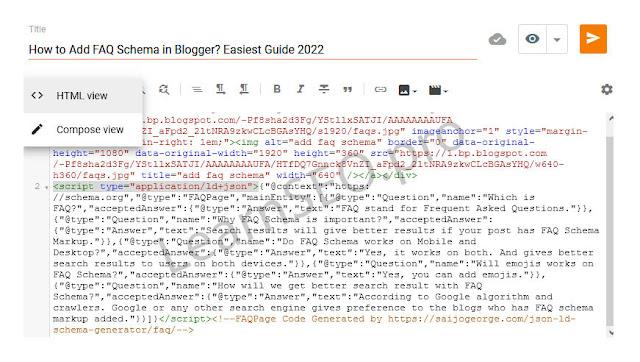 FAQ Schema html