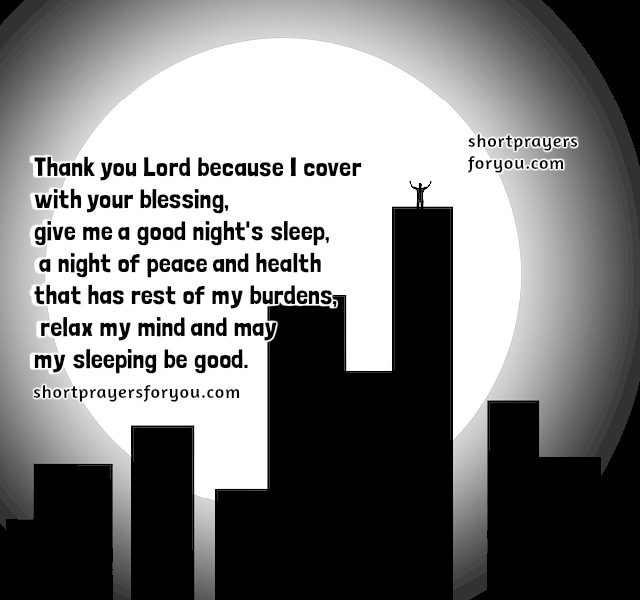 Bedtime Short Prayer for protection.  Lord, we sleep with your protection by Mery Bracho.