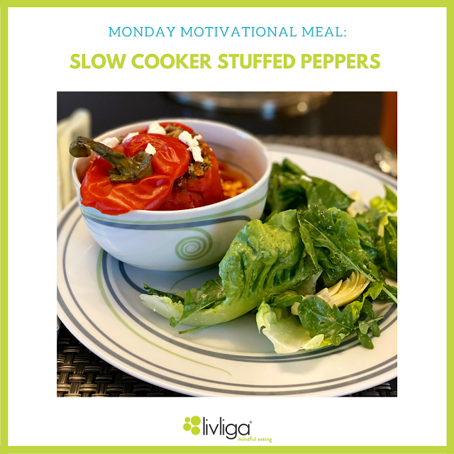 Monday Motivational Meal - Slow Cooker Stuffed Peppers