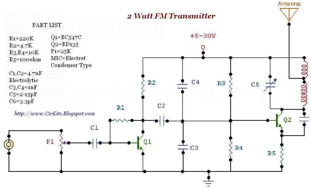 2 Watt FM Transmitter
