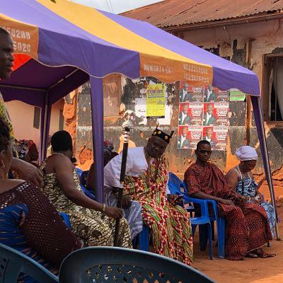 Dzodze - Ghana, comité de bienvenida al IBMF