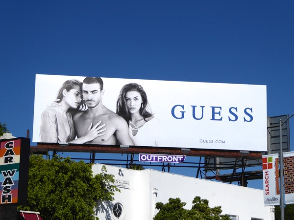 Guess Spring 2016 fashion billboard