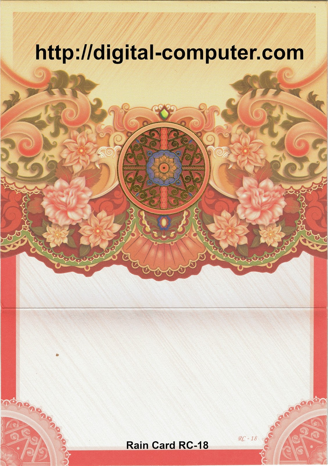 Undangan Softcover Rain Card RC-18