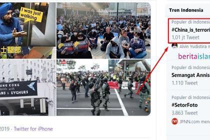 Meski Dikorupsi Twitter, Tagar #China_is_terrorist Kini Tembus 1jt Tweet