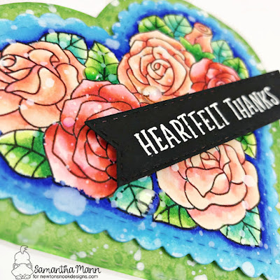 Heartfelt Collection Cards by Samantha Mann for Newton's Nook Designs, Heart Shaped, Card, Cardmaking, Distress Inks, Ink Blending, heat embossing, Die Cuts, #newtonsnook #newtonsnookdesigns #shapecard #heartshape #heatembossing #diecuts
