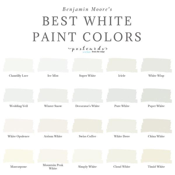 benjamin moore best white paint colors