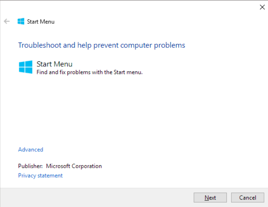How to fix Critical Error Your Start menu isnt working
