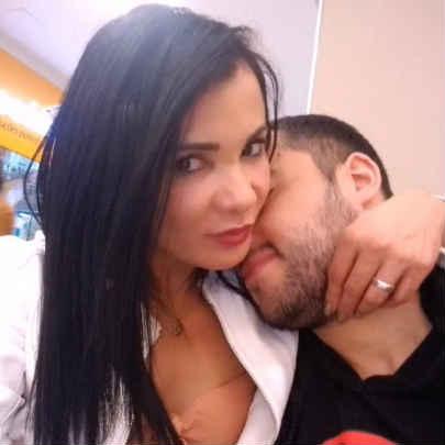 Bianca Naldy com namorado