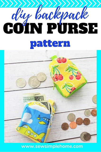 Sew up your own diy backpack coin purse with this free sewing pattern and step by step tutorial and video.