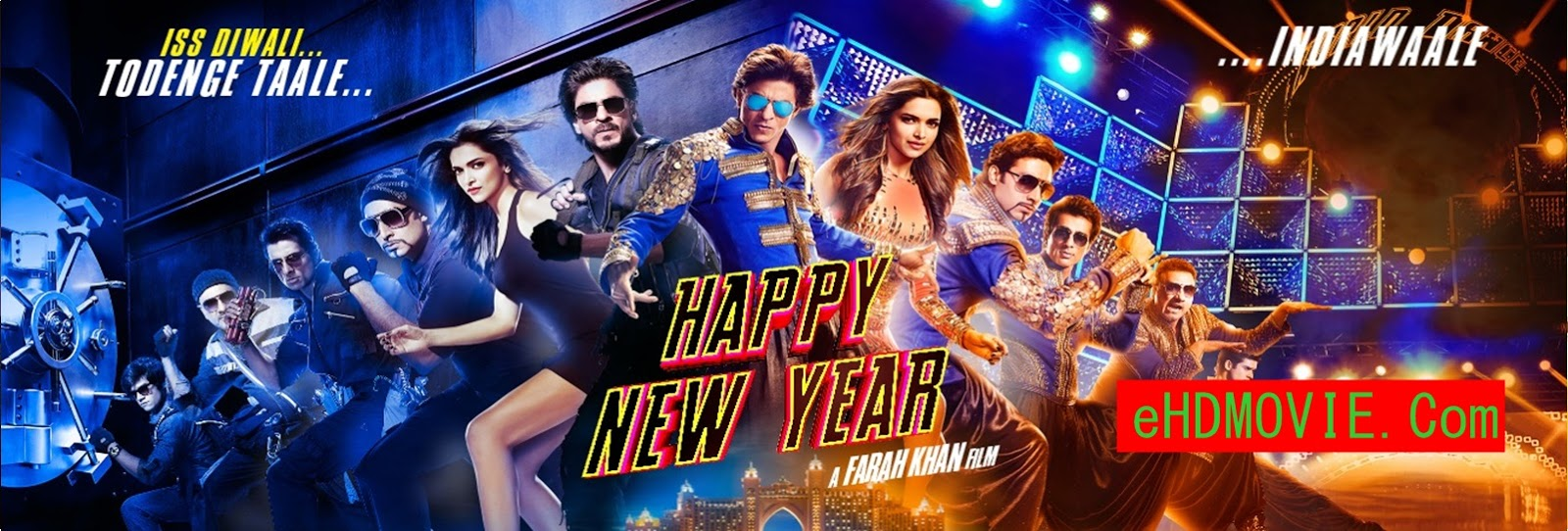 Happy New Year 2014 Full Movie Hindi 720p - 480p ORG BRRip 450MB - 1.3GB ESubs Free Download