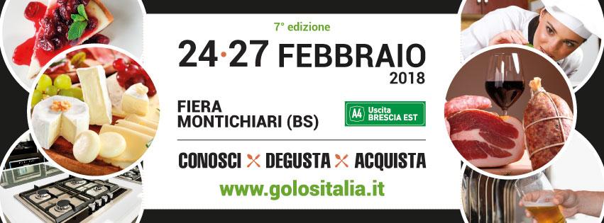 Calendario Fiera Montichiari.Golositalia A Montichiari Bs Dal 24 Al 27 Febbraio 2018