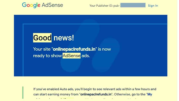AdSense Approval gmail