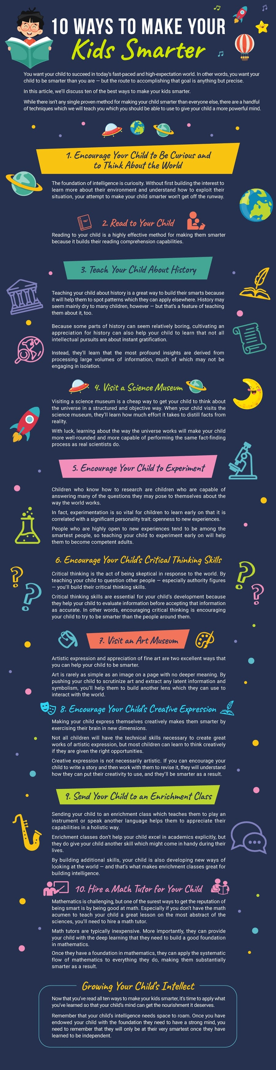10 Ways To Make Your Kids Smarter #infographic#Education #Kids #Kids Smarter