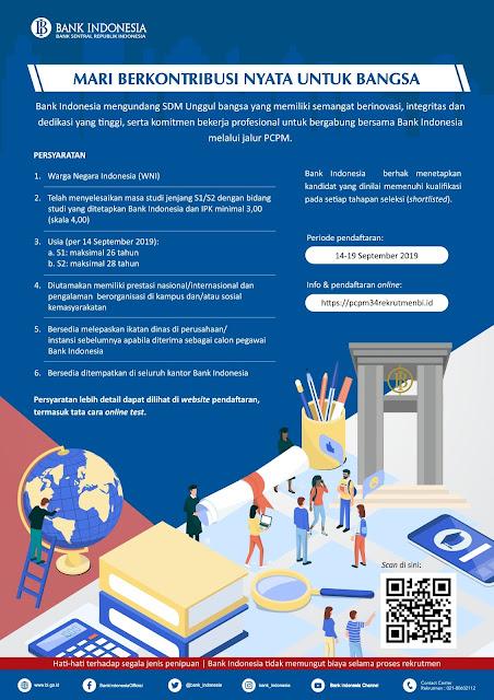 Bank Indonesia merupakan bank sentral Republik Indonesia sesuai Pasal  Seleksi Penerimaan Calon Pegawai Bank Indonesia