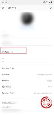 3. Terakhir, silakan isikan url yang ingin kalian tambahkan di bio Instagram pada kolom Website, bukan pada kolom Bio