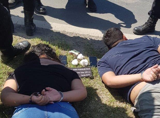 Una pareja narco detenida tras una persecución de Comando de VGG que finalizó en la Ruta 21