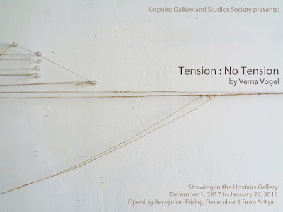 tension : no tension exhibition of string drawings by verna vogel artpoint gallery calgary