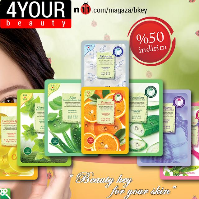 Beauty Key maske,kağıt maske,cilt bakımı
