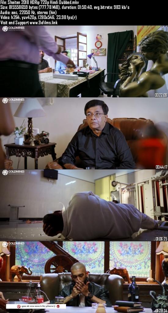 Shaitan 2018 HDRip 720p Hindi Dubbed 700mb