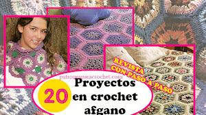 Qué es el CROCHET AFGANO 💝 Revista con 20 Proyectos Crochet Afgano